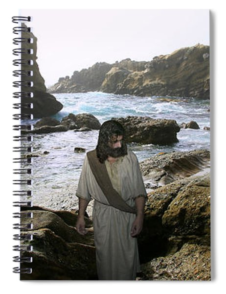 Jesus Christ- In The Company Of Angels Spiral Notebook