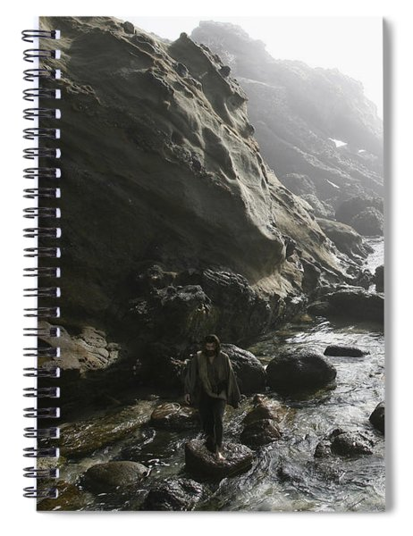 Jesus Christ- In The Presence Of Angels Spiral Notebook
