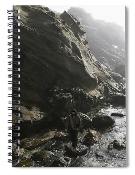 Jesus Christ- Walking Among Angel Mist Spiral Notebook