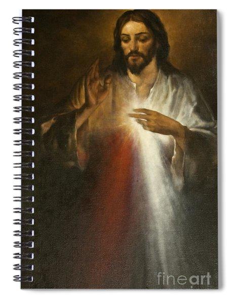 Jesus Of Divine Mercy Spiral Notebook