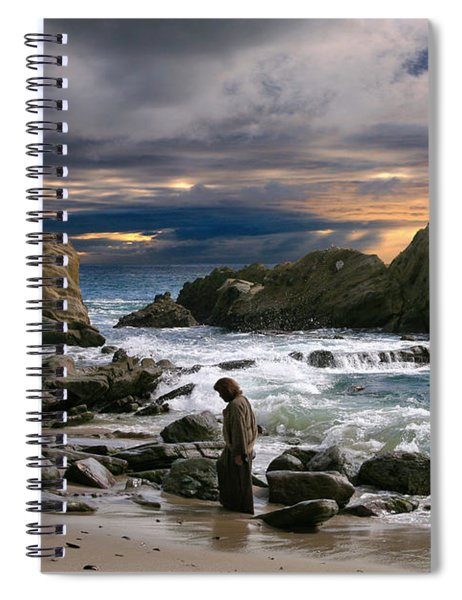 Jesus' Sunset Spiral Notebook