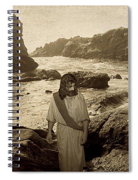 Jesus Walks Among Angels Spiral Notebook