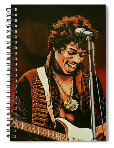 Jimi Hendrix Painting Spiral Notebook