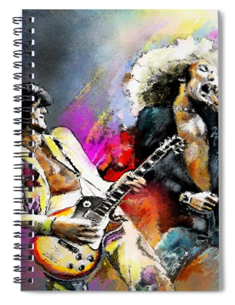 Jimmy Page And Robert Plant Led Zeppelin Spiral Notebook
