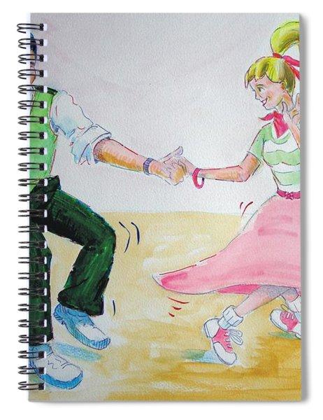 Jive Dancing Cartoon Spiral Notebook