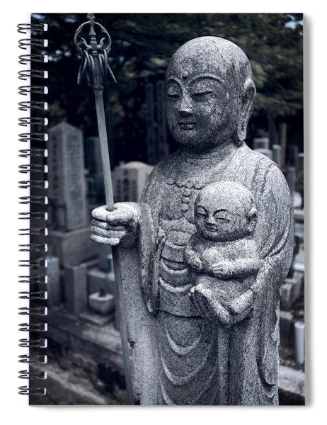 Jizo Bodhisattva Deity Of Kyoto  Spiral Notebook