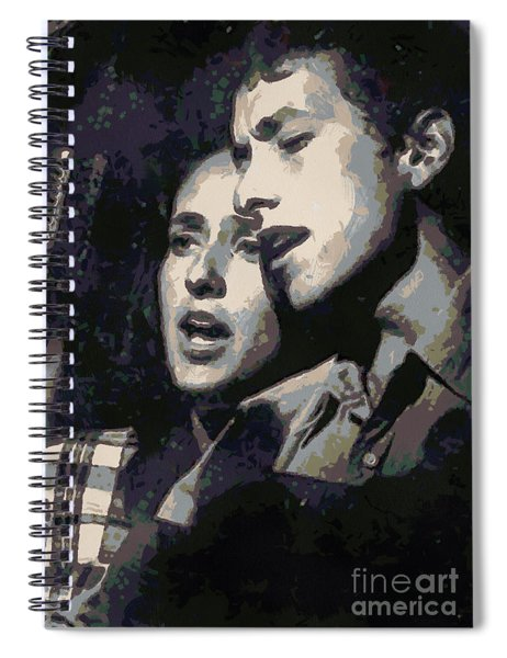 Joan Baez And Bob Dylan Spiral Notebook
