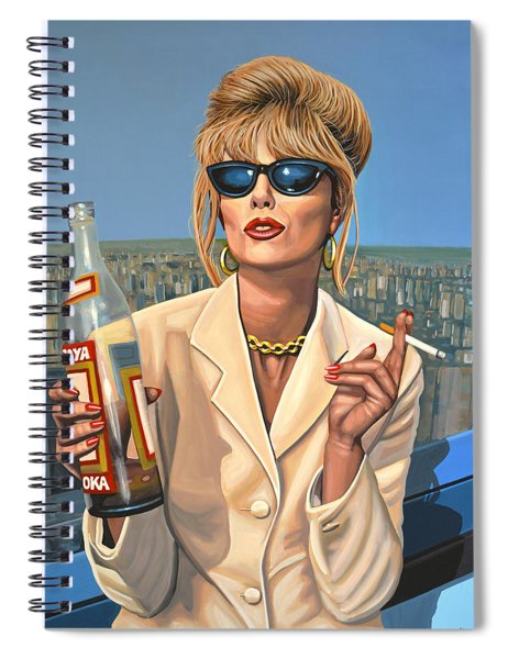 Joanna Lumley As Patsy Stone Spiral Notebook