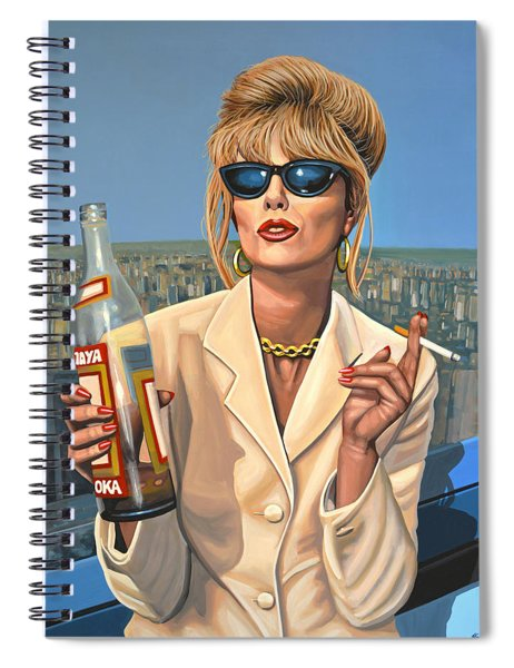 Joanna Lumley As Patsy Stone Spiral Notebook