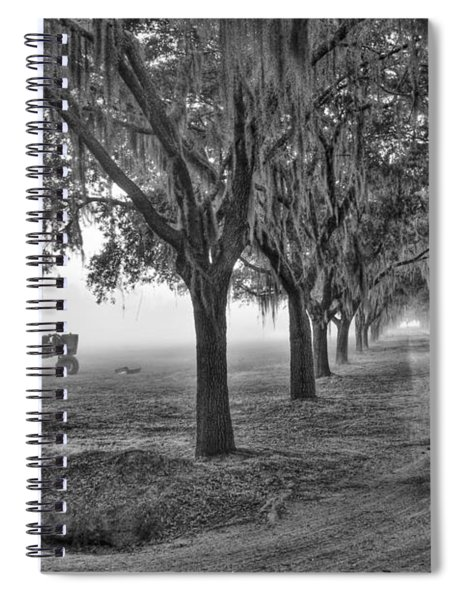 John Deer Tractor And The Avenue Of Oaks Spiral Notebook