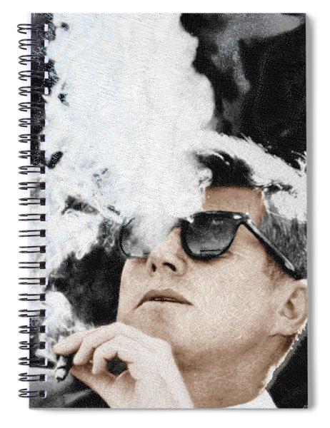 John F Kennedy Cigar And Sunglasses Spiral Notebook