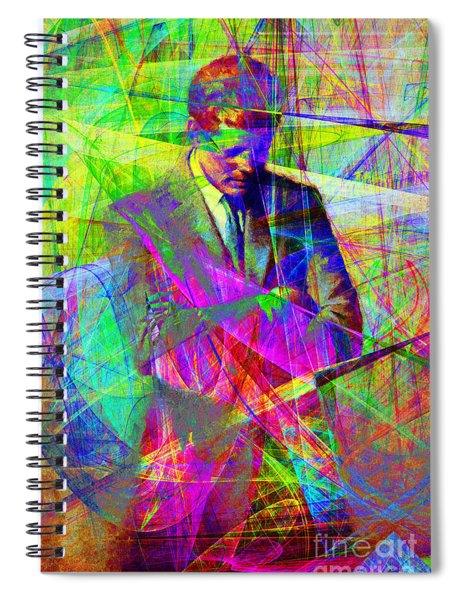 John Fitzgerald Kennedy Jfk In Abstract 20130610 Spiral Notebook