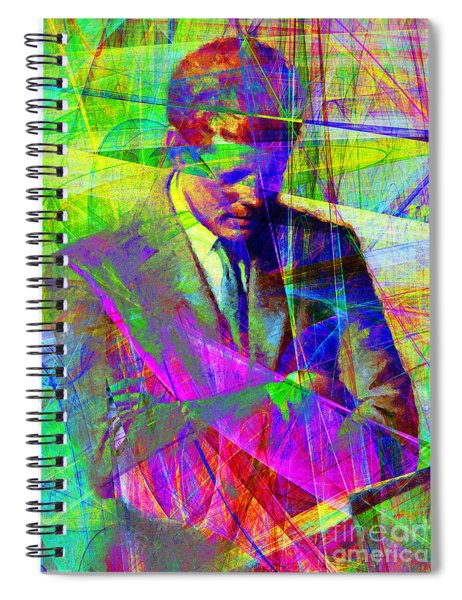 John Fitzgerald Kennedy Jfk In Abstract 20130610v2 Spiral Notebook