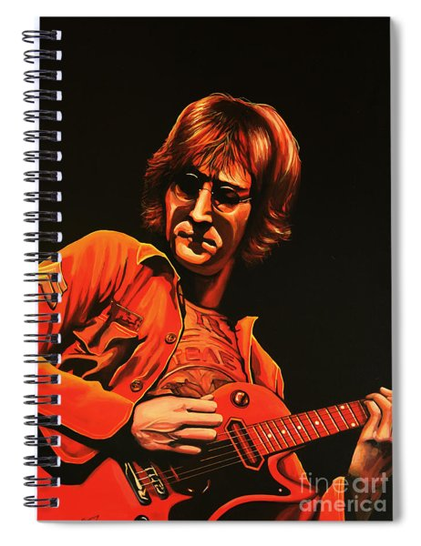 John Lennon Painting Spiral Notebook
