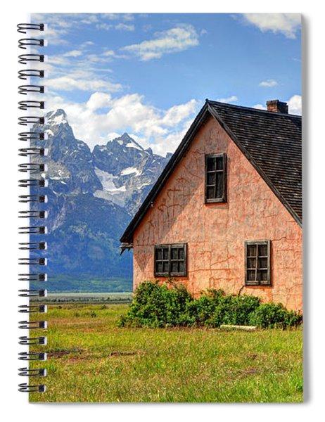 John Moulton Home Grand Teton National Park Spiral Notebook