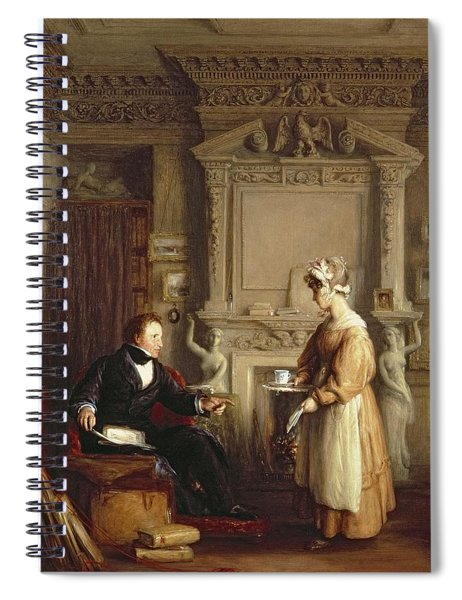 John Sheepshanks And His Maid Spiral Notebook