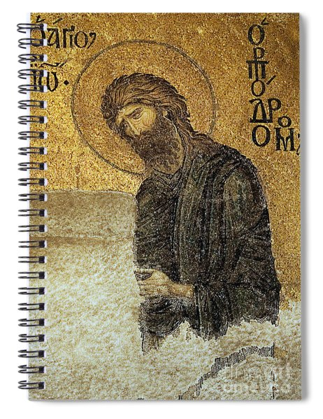 John The Baptist-detail Of Deesis Mosaic  Hagia Sophia-judgement Day Spiral Notebook