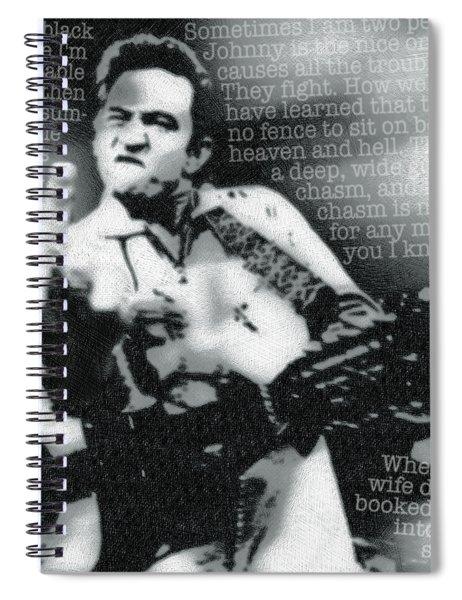 Johnny Cash Rebel Spiral Notebook