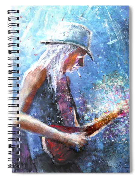 Johnny Winter Spiral Notebook