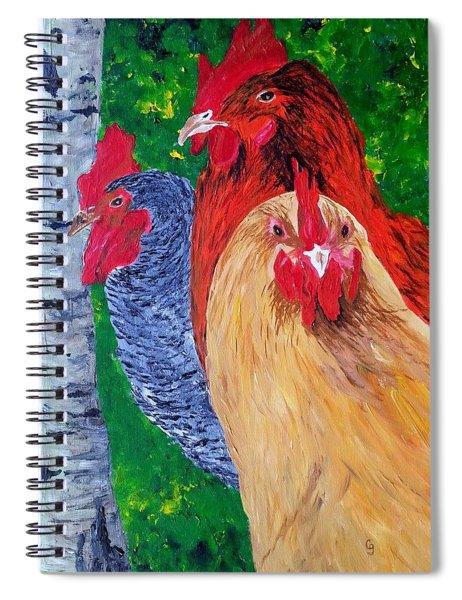 John's Chickens Spiral Notebook