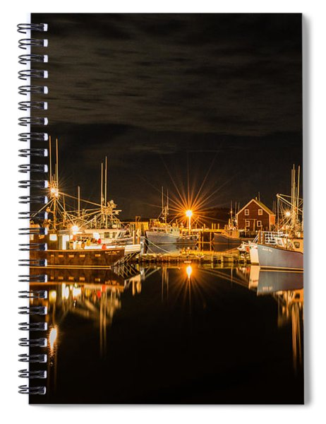 Spiral Notebook featuring the photograph John's Cove Reflections by Garvin Hunter
