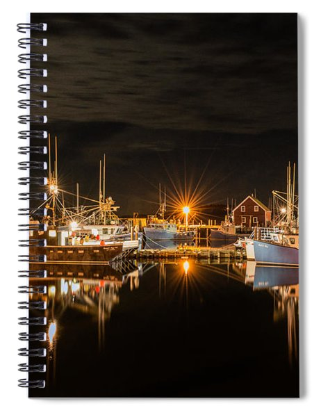 Spiral Notebook featuring the photograph John's Cove Reflections - Revisited by Garvin Hunter