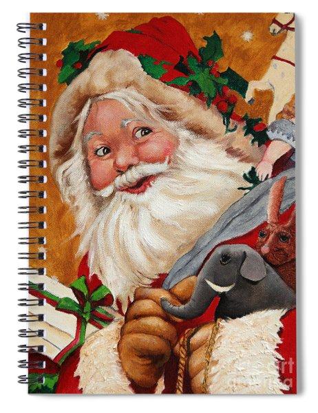Jolly Santa Spiral Notebook