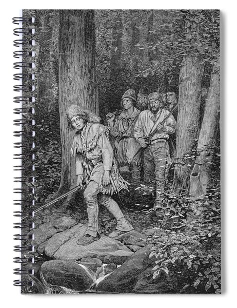 Joseph Brown Leading His Company To Nicojack, The Stronghold Of The Chickamaugas, Engraved Spiral Notebook