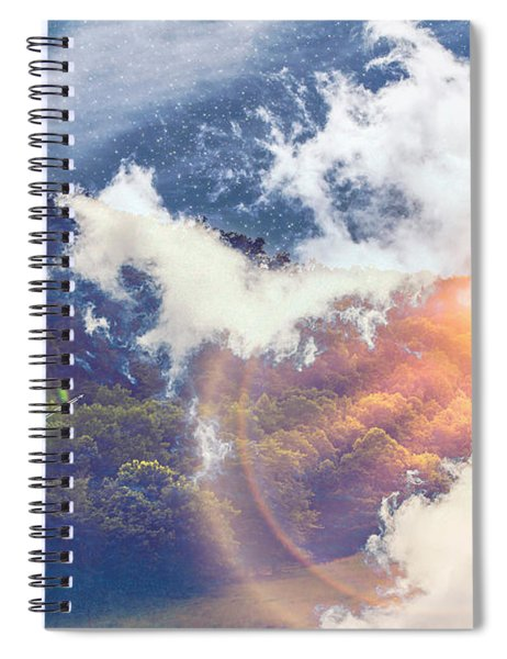 Journey To Another Dimension Spiral Notebook