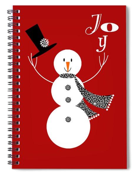 Joyful Snowman Spiral Notebook