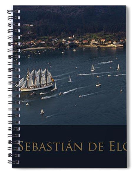 Juan Sebastian Elcano Departing The Port Of Ferrol Spiral Notebook