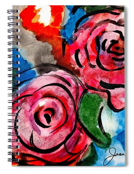 Juicy Red Roses Spiral Notebook