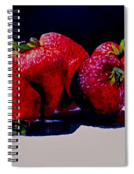 Juicy Strawberries Spiral Notebook