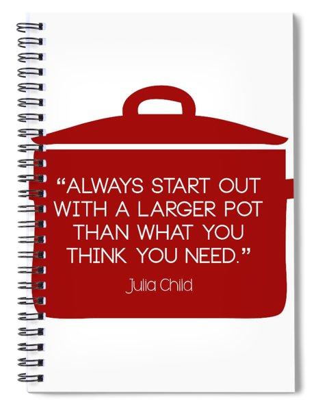 Julia Child's Larger Pot Spiral Notebook