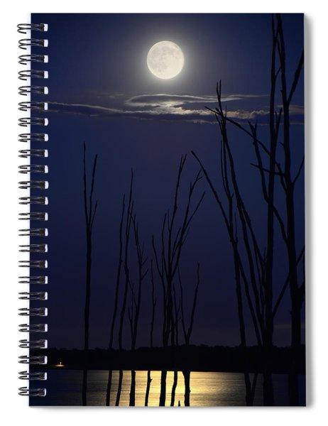 July 2014 Super Moon Spiral Notebook