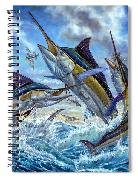 Jumping Grand Slam And Flyingfish Spiral Notebook