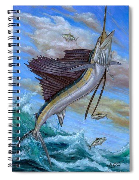 Jumping Sailfish Spiral Notebook