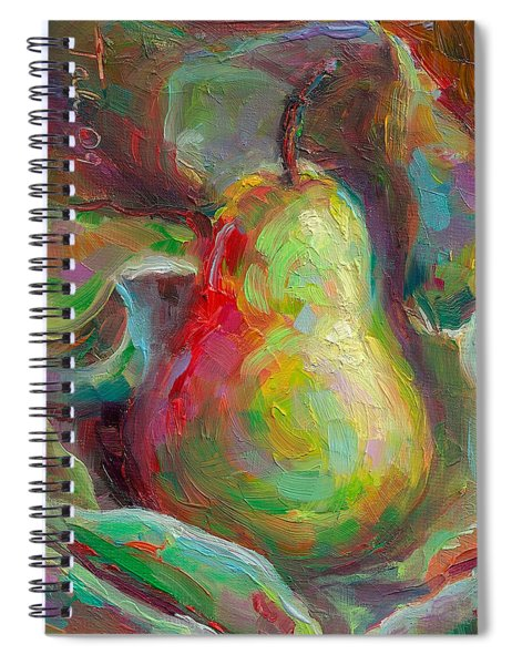 Just A Pear - Impressionist Still Life Spiral Notebook