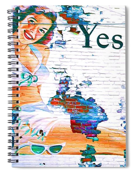 Just Sitting By The Side Of The Road - Digital Art Spiral Notebook