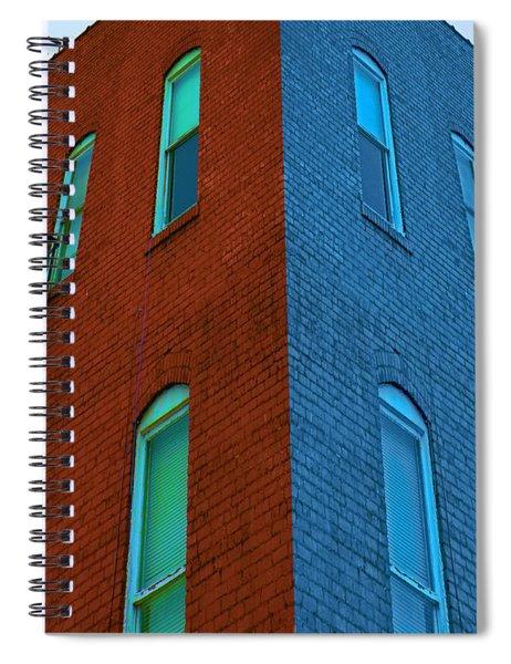 Juxtaposition - Old Building Spiral Notebook