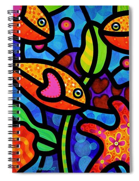 Kaleidoscope Reef Spiral Notebook by Steven Scott