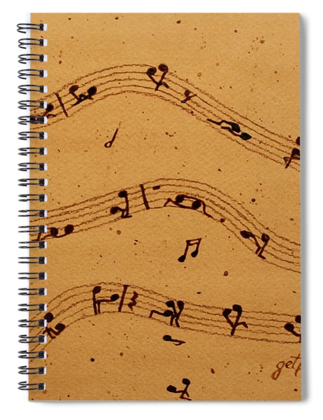 Kamasutra Music Coffee Painting Spiral Notebook