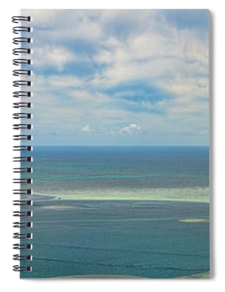 Kaneohe Sandbar Panorama Spiral Notebook