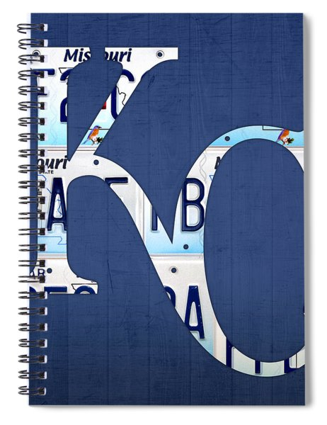 Kansas City Royals Recycled License Plate Art Baseball Logo Spiral Notebook
