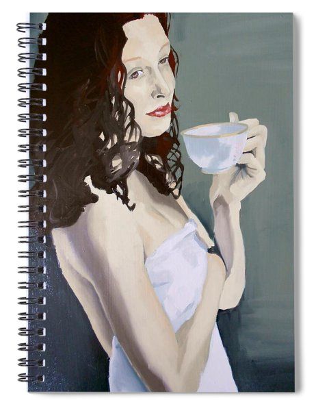 Katie - Morning Cup Of Tea Spiral Notebook