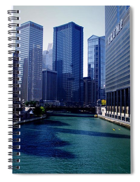Kayaks On The Chicago River Spiral Notebook