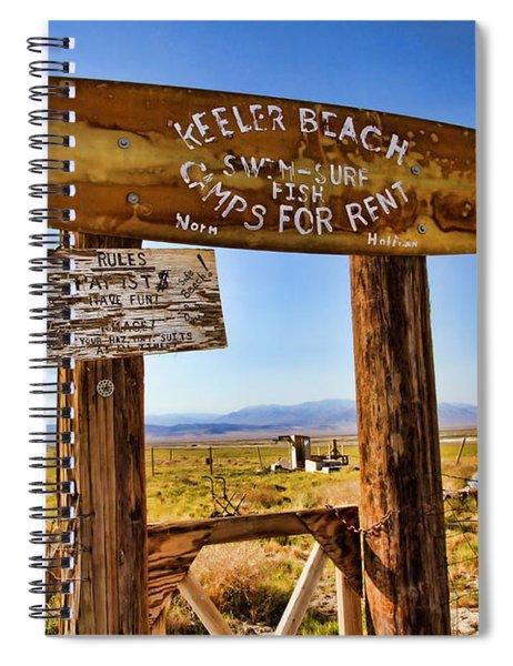 Keeler Beach Camping By Diana Sainz Spiral Notebook