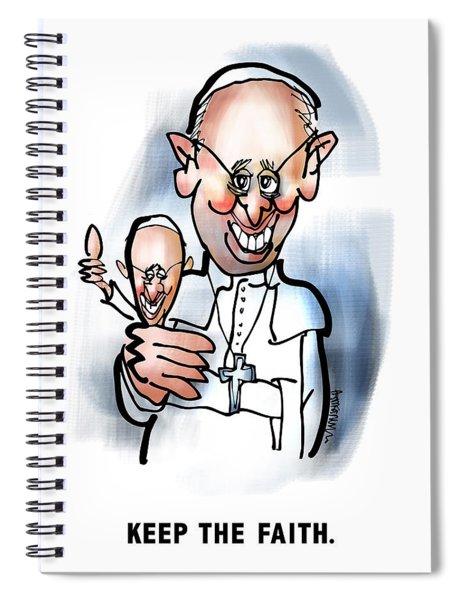 Keep The Faith Spiral Notebook
