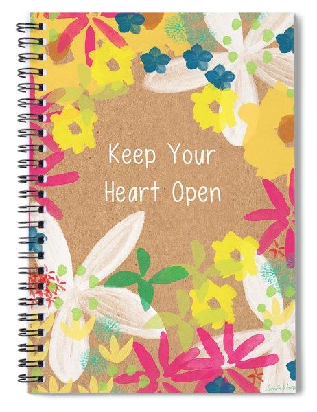 Keep Your Heart Open Spiral Notebook