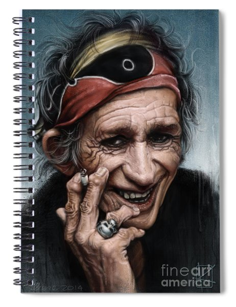 Keith Richards Spiral Notebook
